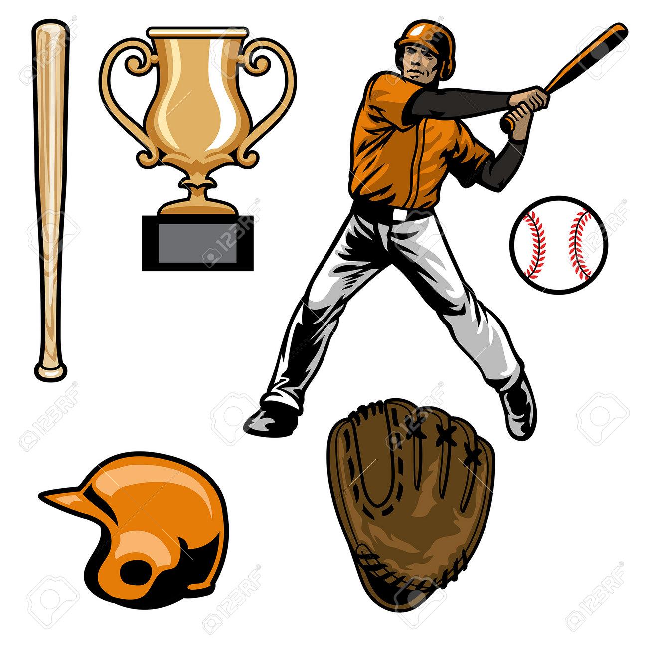set of baseball equipment - 161958410