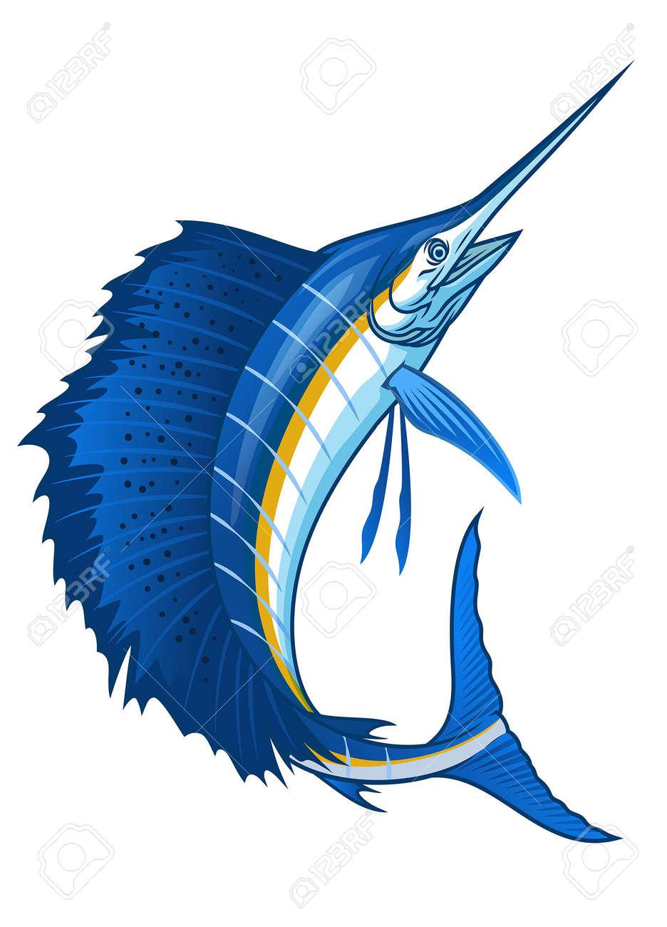 atlantic sailfish with big sail fin - 167532439