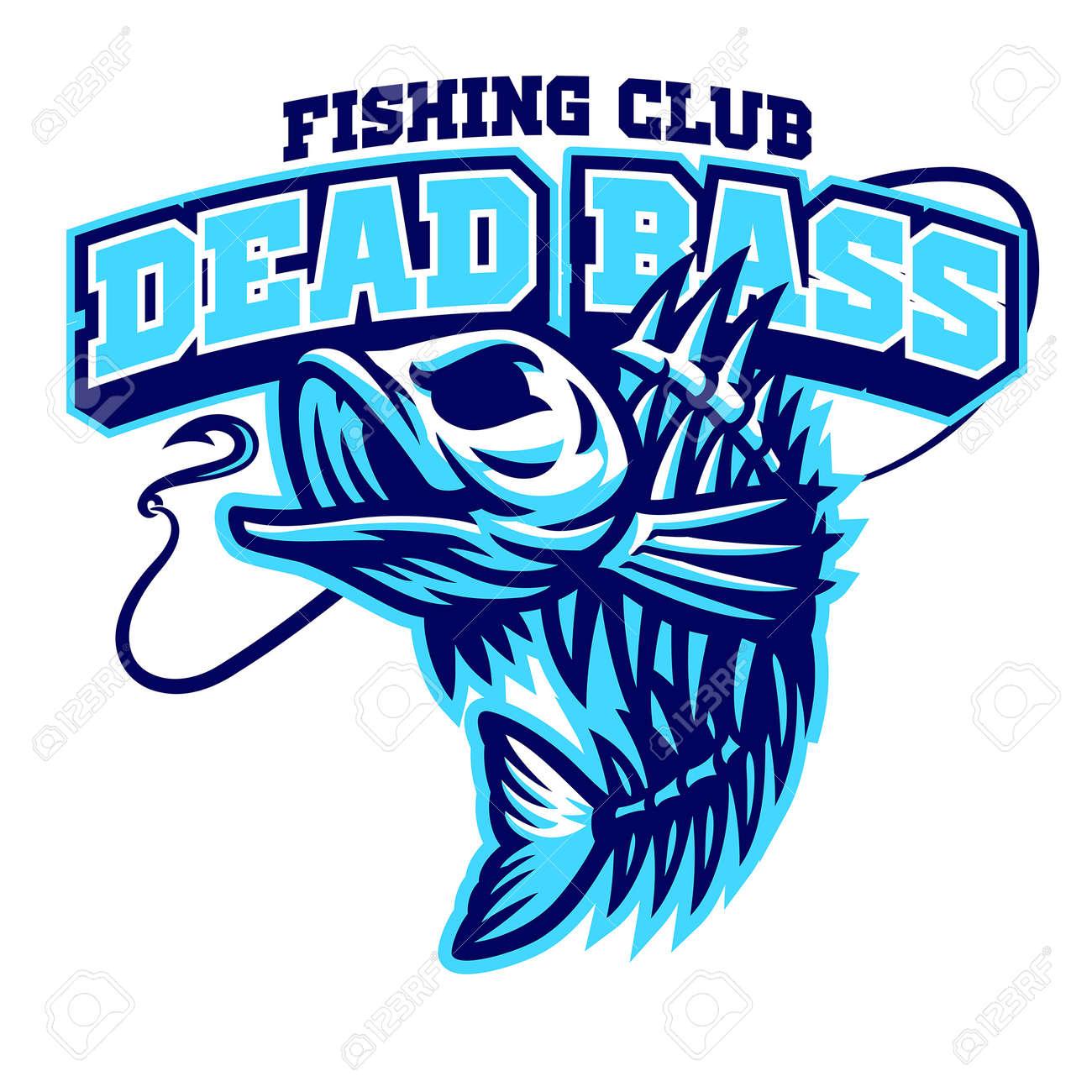 Largemouth bass fish skull mascot - 169099665