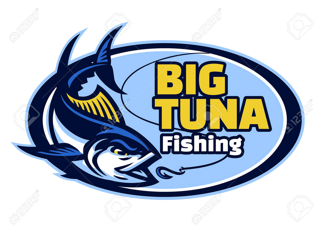vector of tuna fishing club mascot - 169099676