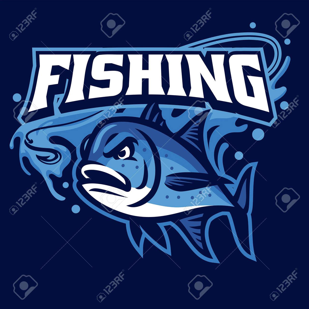 Mascot of fishing giant trevally - 169099736