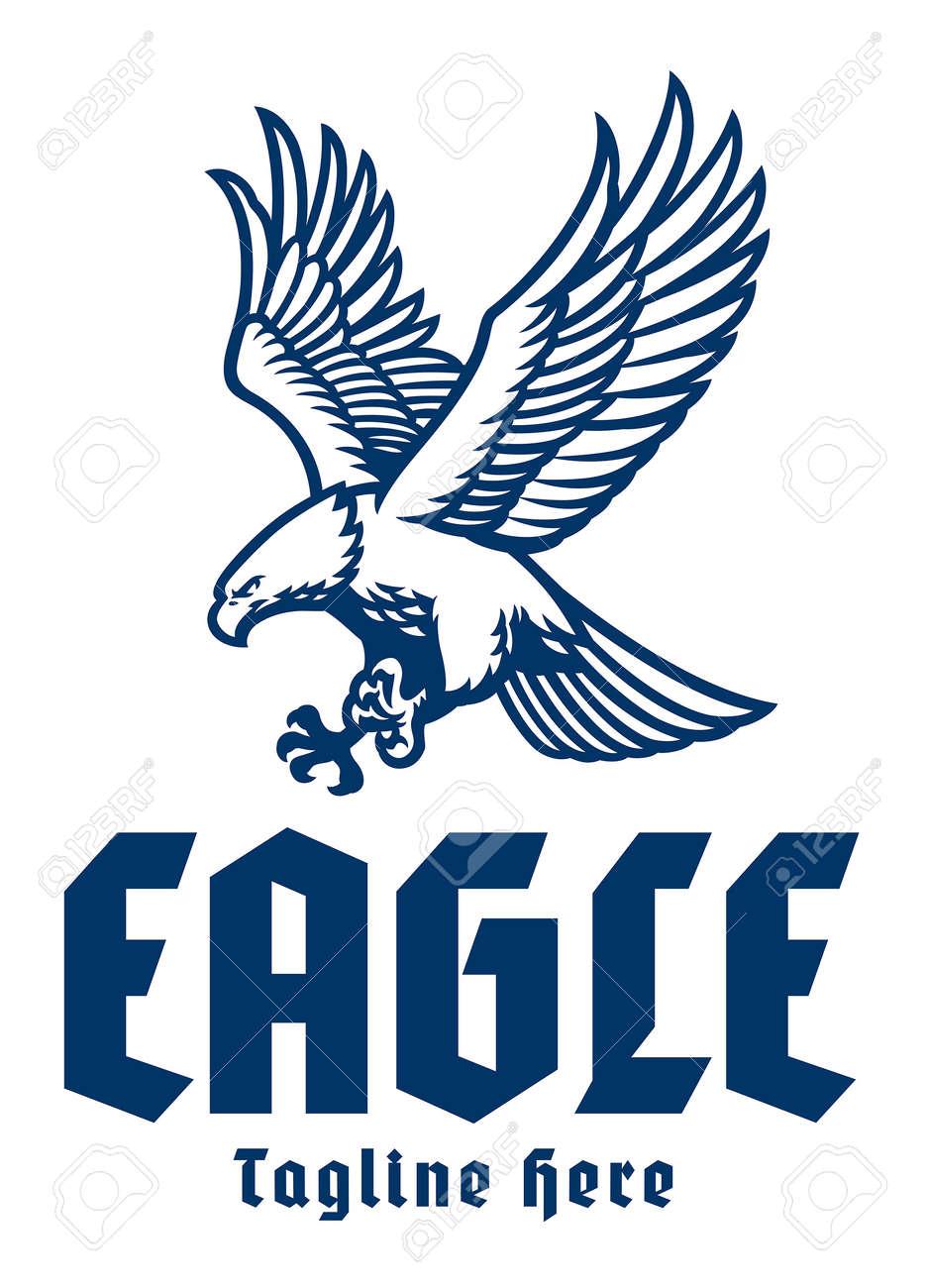 flying eagle mascot logo - 171104017