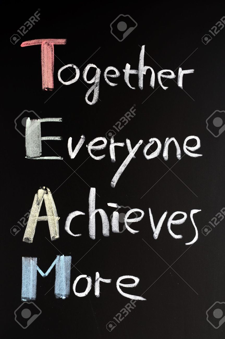TEAM Acronym (Together Everyone Achieves More), Teamwork ...