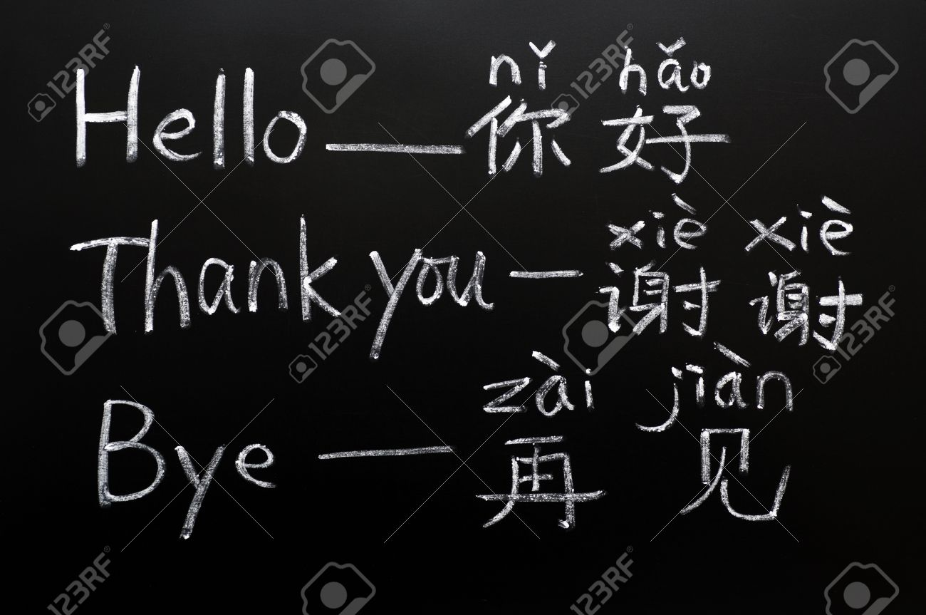 Learning chinese language on a blackboard starting with the learning chinese language on a blackboard starting with the greetings stock photo 11939386 m4hsunfo