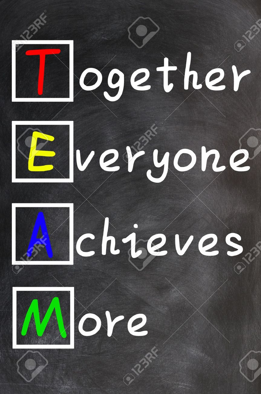 TEAM Acronym Together Everyone Achieves More , Teamwork Motivation ...