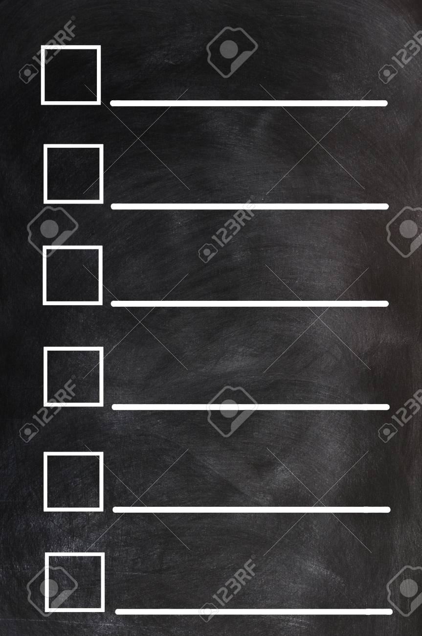 Blank form on a blackboard background Stock Photo - 13885768