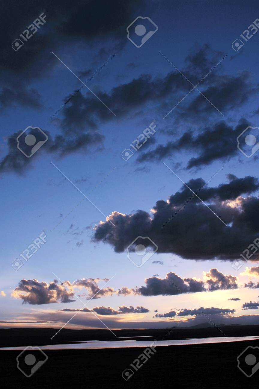 Cloudscape at sunset Stock Photo - 15398273