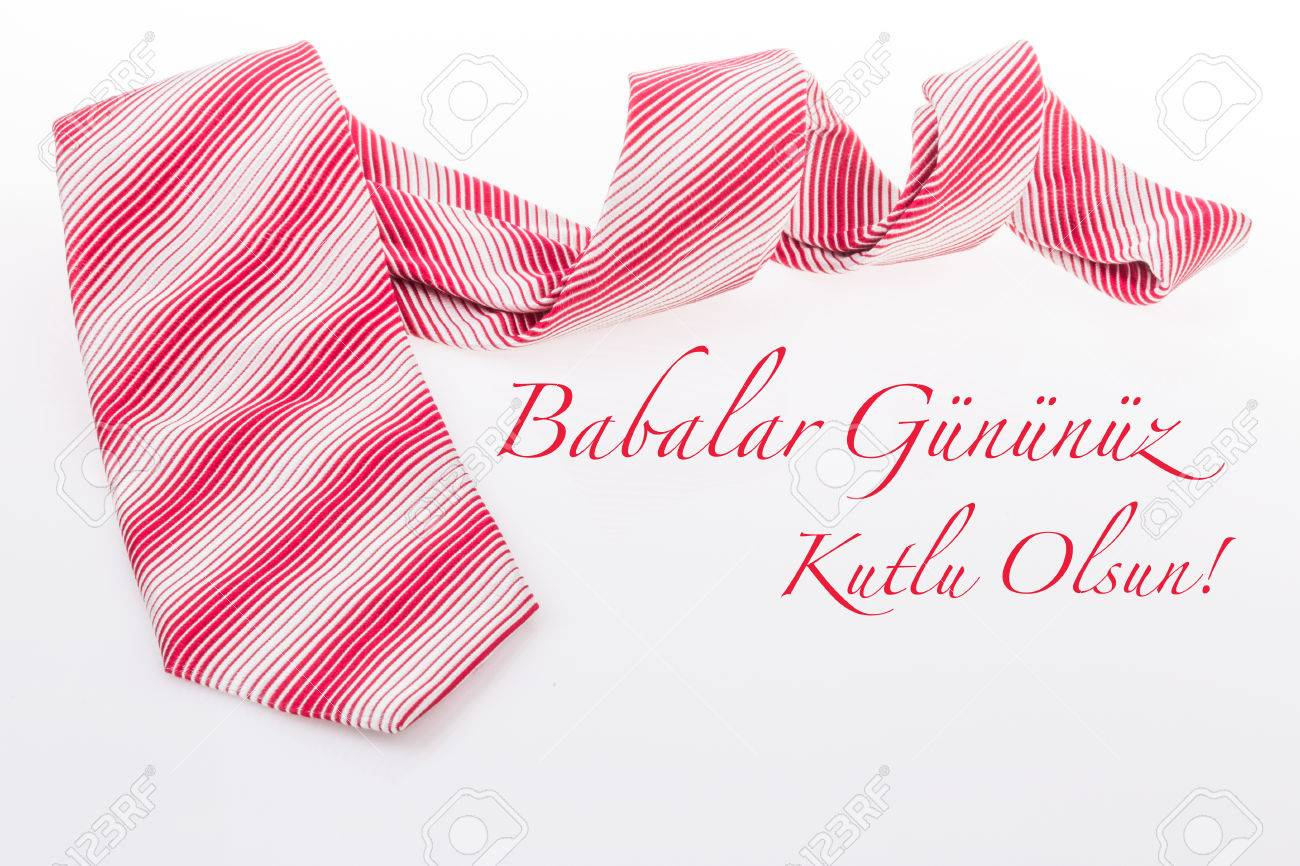 Fathers Day Greeting In Turkish Stock Photo Picture And Royalty