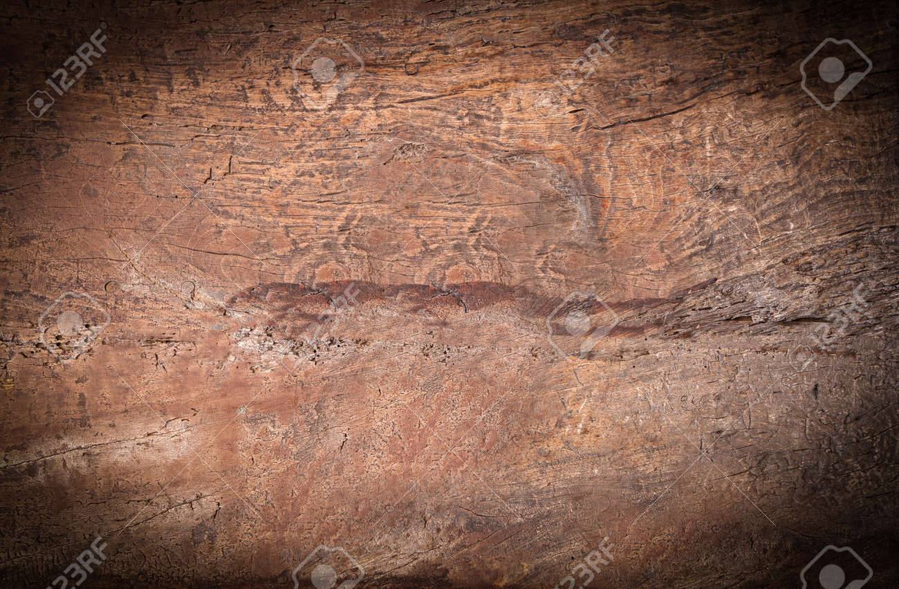 selective focus of old texture painted wooden boards. Close-up - 169600873