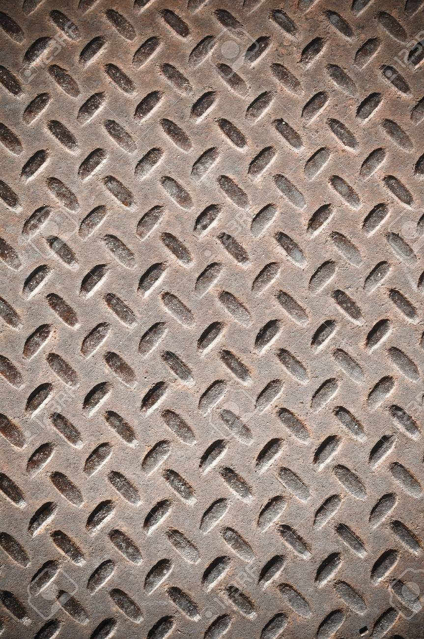 Rusty Diamond Plate that can be used for background Stock Photo - 6138913