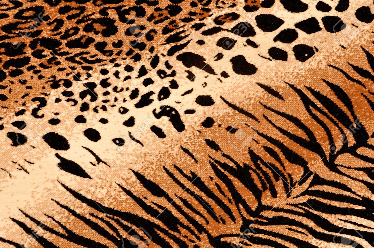 Tiger Cheetah Print Rug Background Stock Photo - 7253864