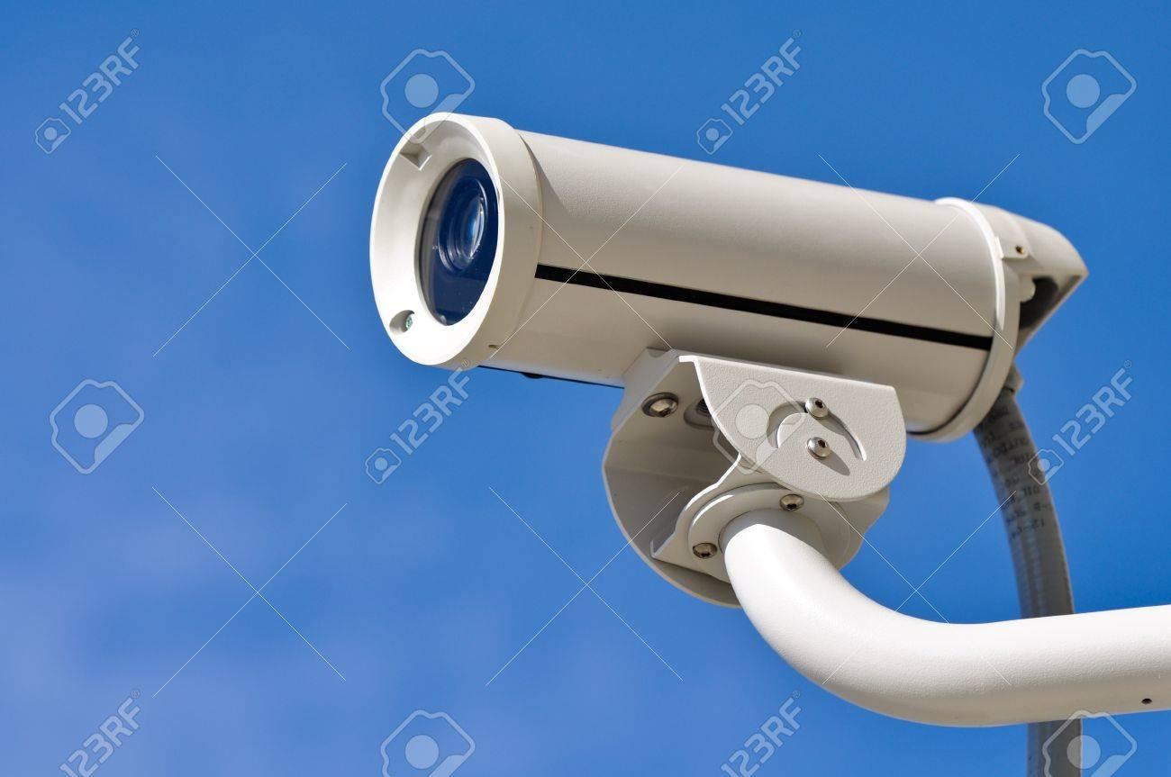 Security Camera Against Blue Sky Stock Photo - 8399550