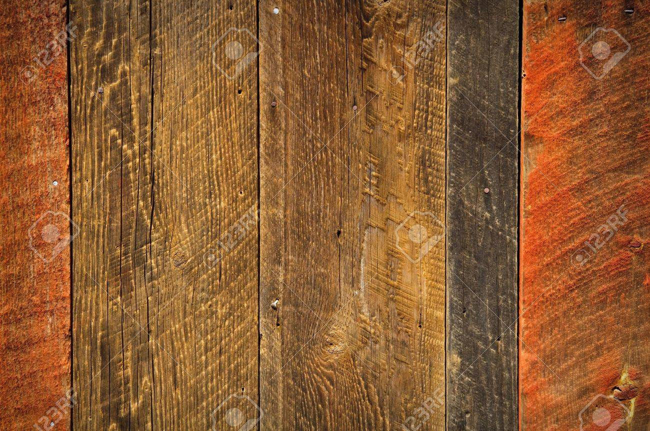 Rustic Wood Background Red And Black Brown Stock Photo