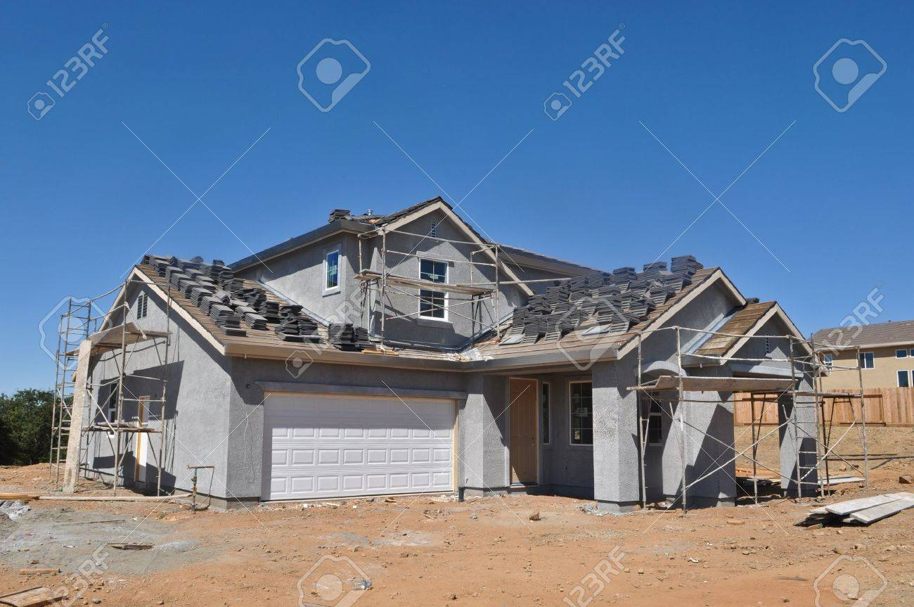 New Residential Home under Construction Stock Photo - 11741248