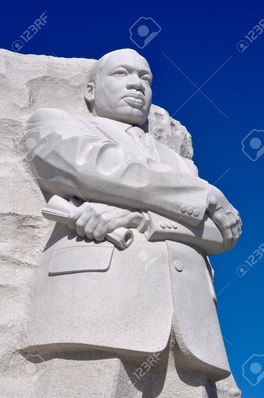 Martin Luther King Statue Monument In Washington Dc Stock Photo