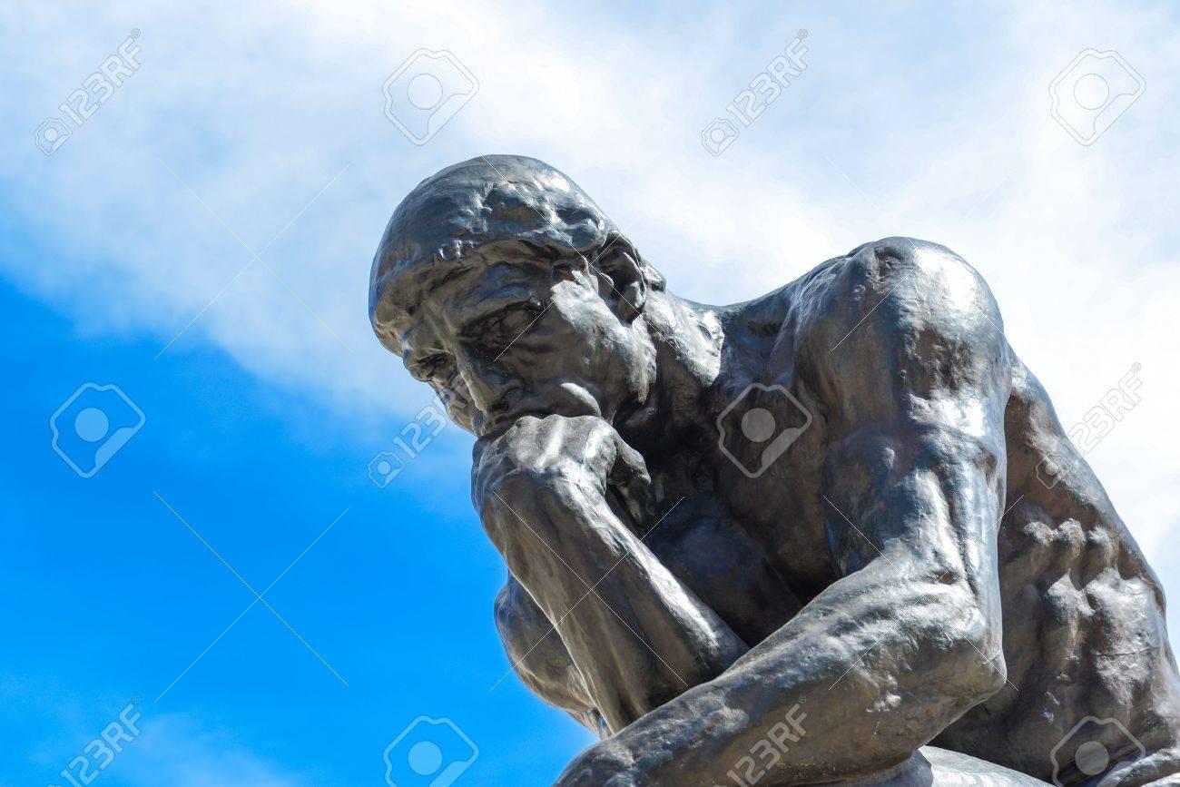 Rodin Thinker Statue Stock Photo - 15833846