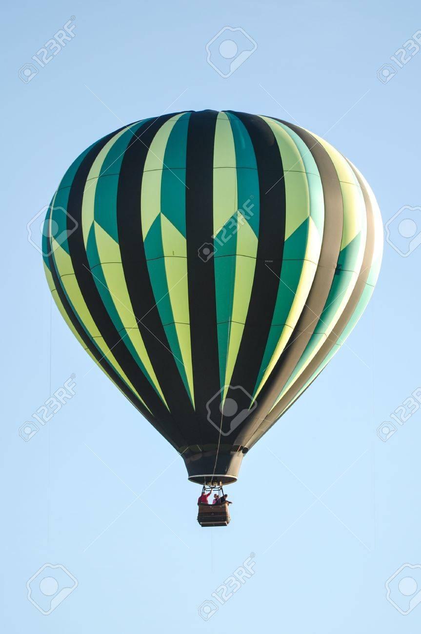 Green and Black Hot Air Balloon Stock Photo - 17433322