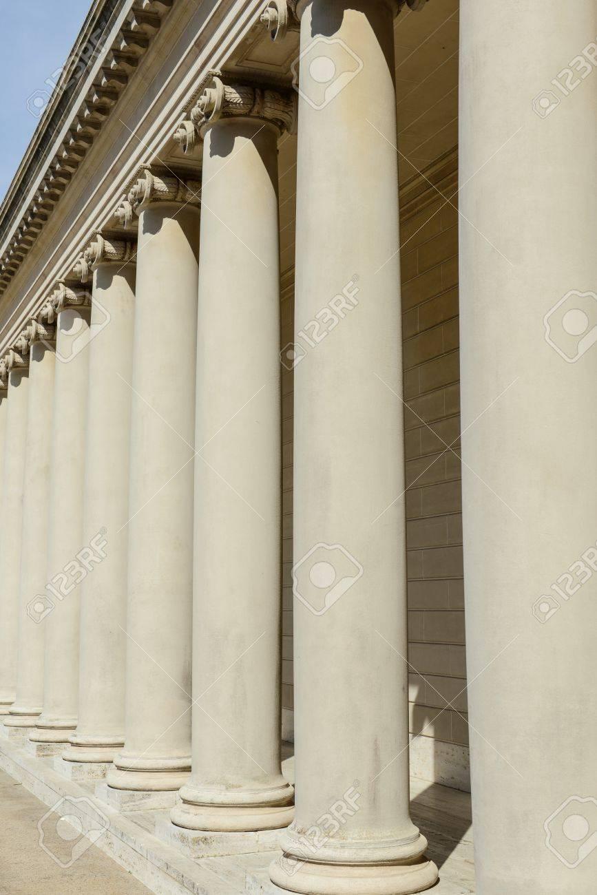 Stone Pillars in a Row Stock Photo - 17574432