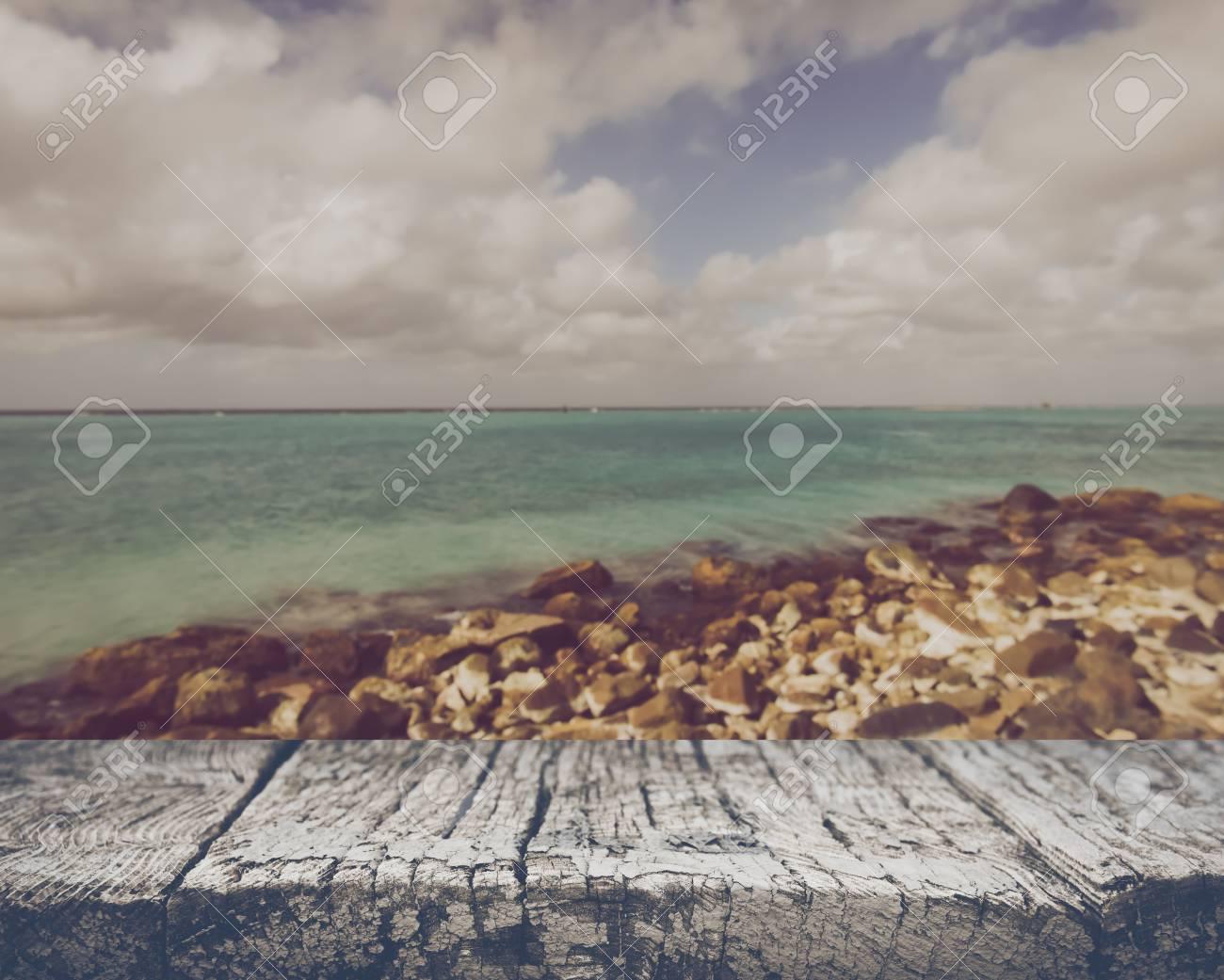 Blurred Ocean Background - 55007923