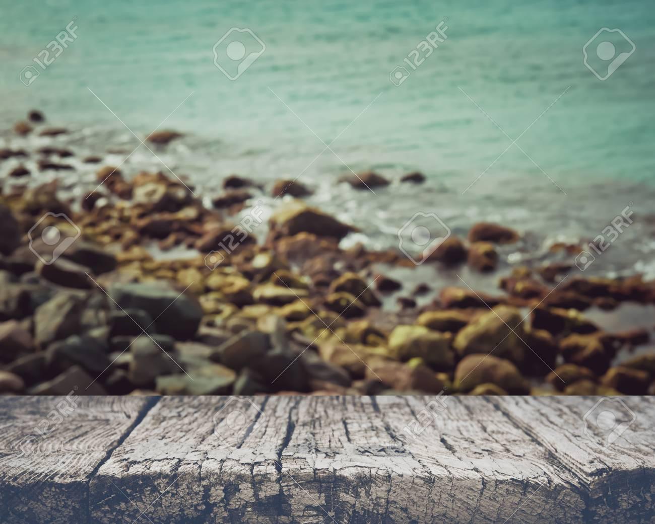 Blurred Ocean Background - 55008025