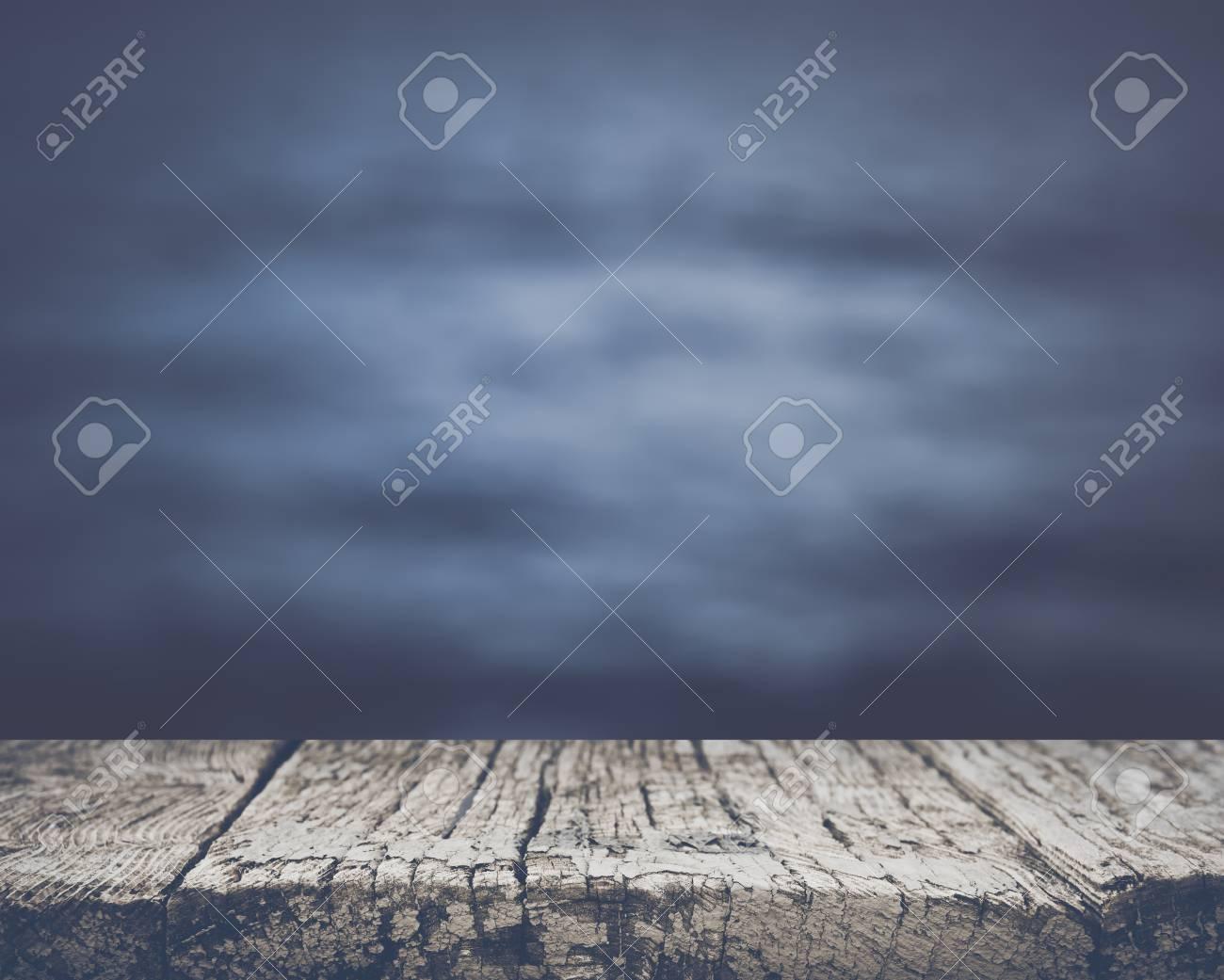 Blurred Ocean Background - 55008077