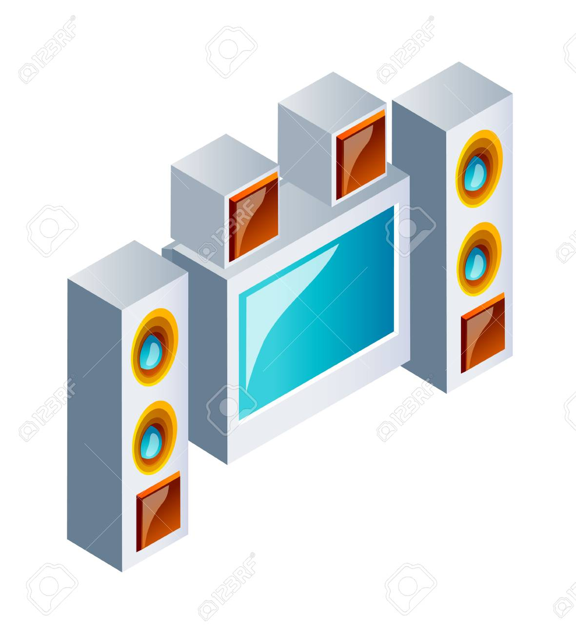 Vector Icon Home Theater System Royalty Free Cliparts, Vectors, And ...