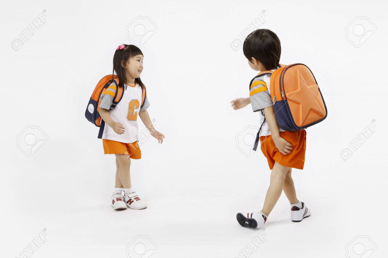 Asian kids with education concept- Isolated on studio shot - 80625467