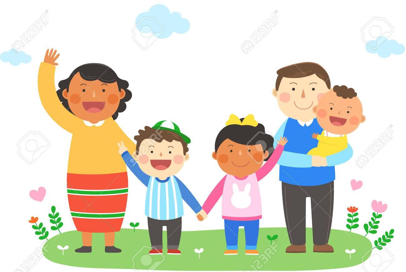 人種、異文化家族のイラスト - ...