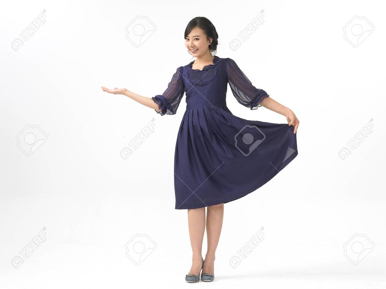 Vestido azul marino formal