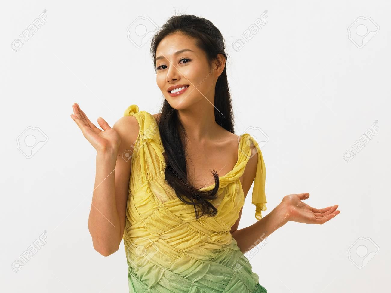 Vestido verde moda asiatica