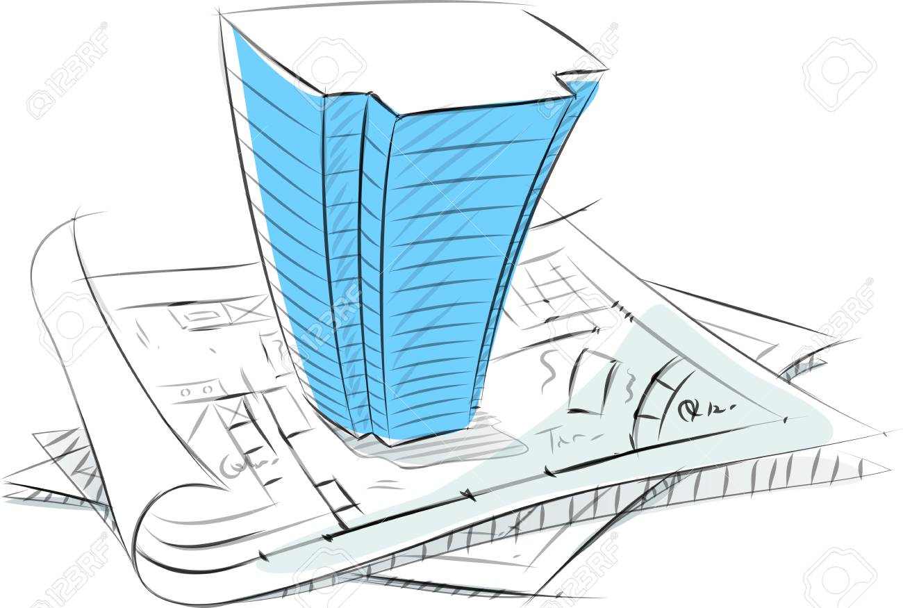 Business sketches of 3d building on blueprint royalty free cliparts business sketches of 3d building on blueprint stock vector 89922796 malvernweather Choice Image
