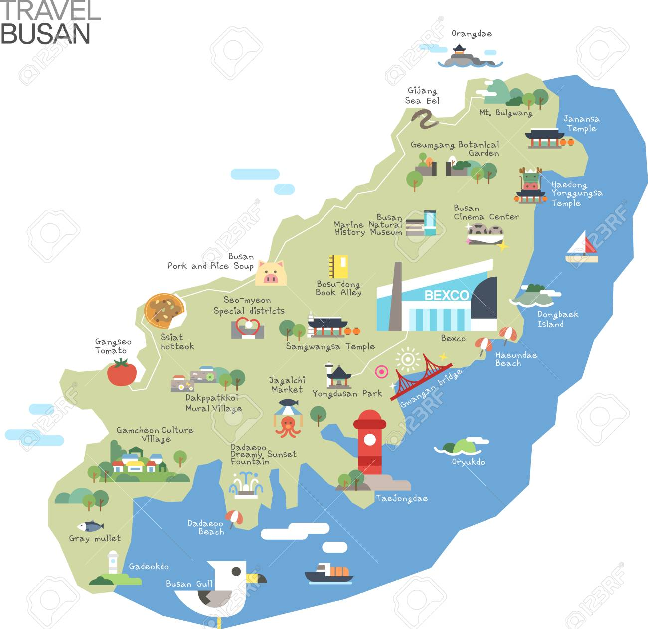 Map Of Busan Pusan Map And Pusan Satellite Image Chloe Wl Guide To - Busan map