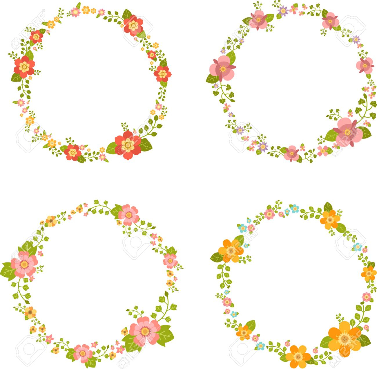 blank flower circle template design royalty free cliparts vectors