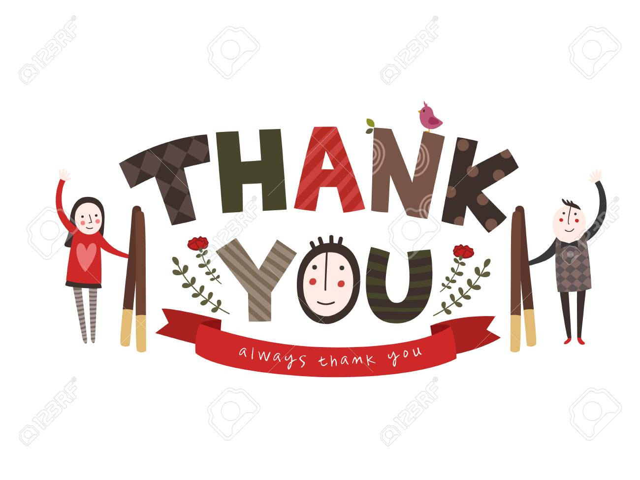 Thank you - typography - 90608533