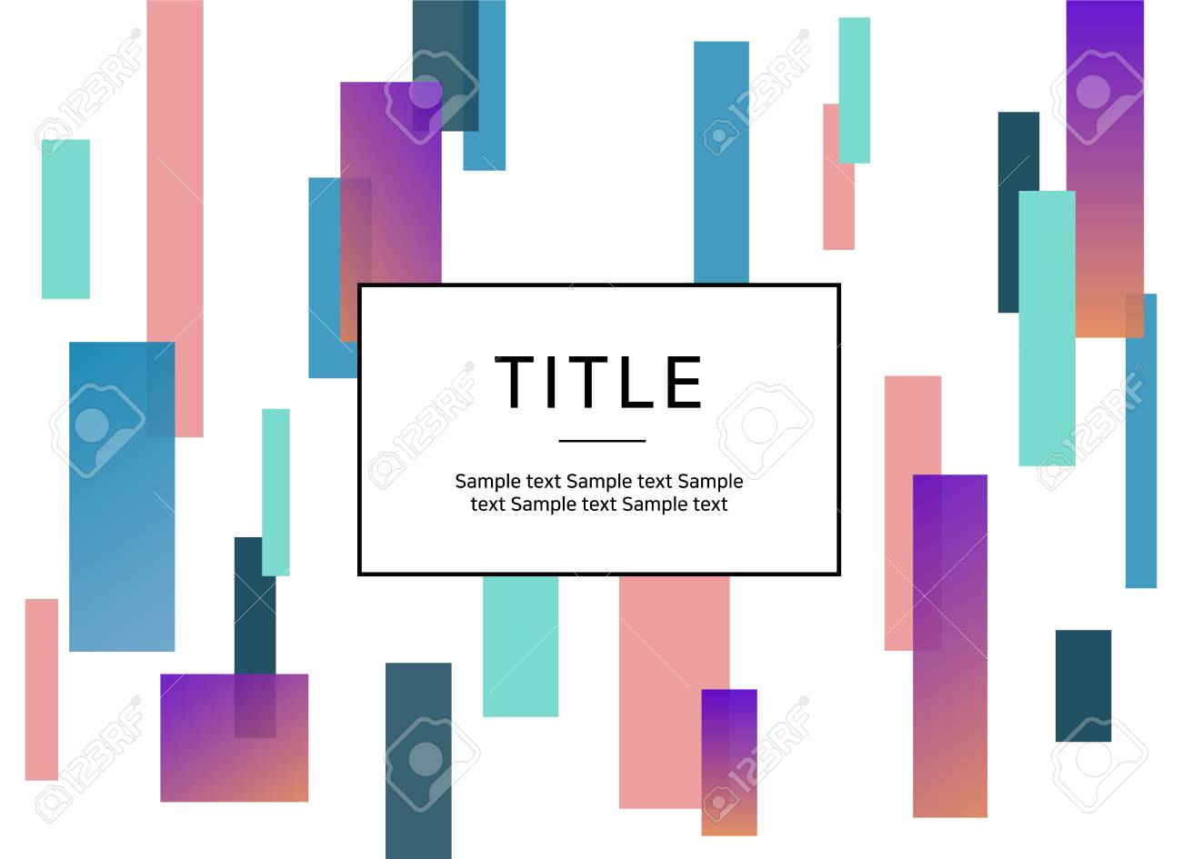 Presentation Cover Page Image With Abstract Geometric Pattern