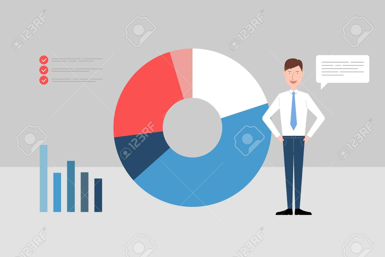business people daily work life business chart graphs ideas for a goals