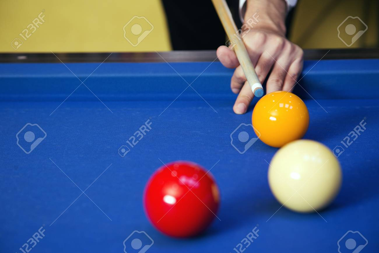 Play Billiards On The Pool Table Stock Photo Picture And - Play pool table near me
