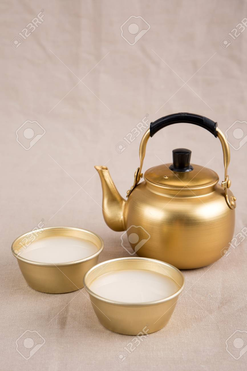 The Korean Traditional Drinks Rice Wine Makgeolli And Others Stock Photo Picture And Royalty Free Image Image 92775100