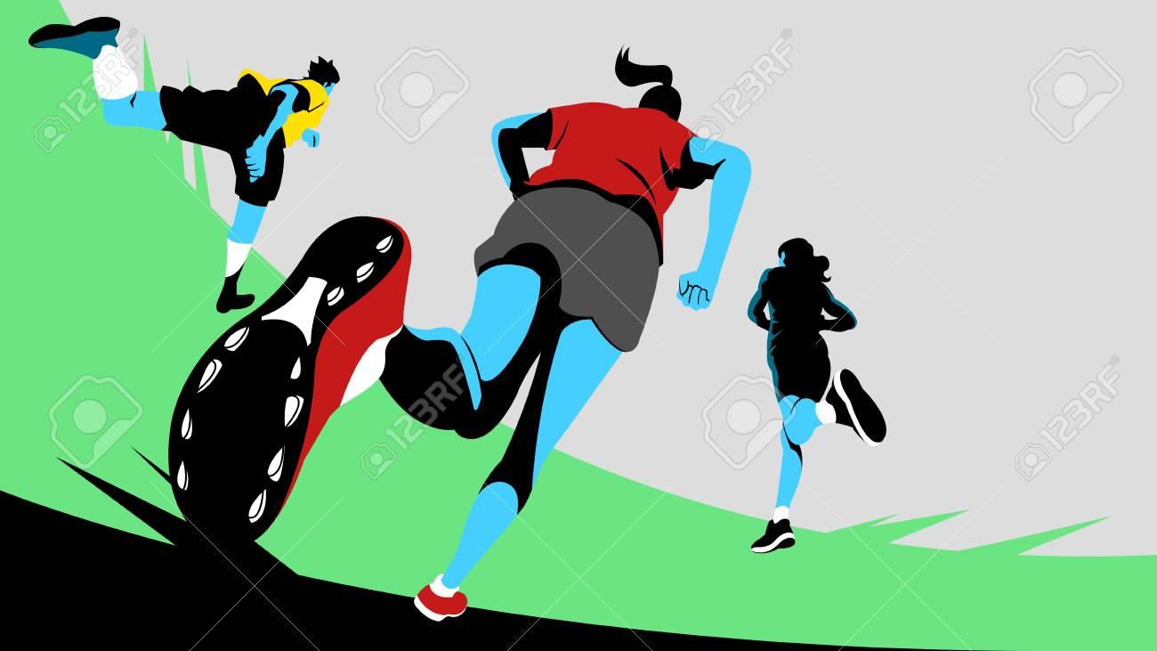 Vector - Dynamic sports, running 010. - 94587408