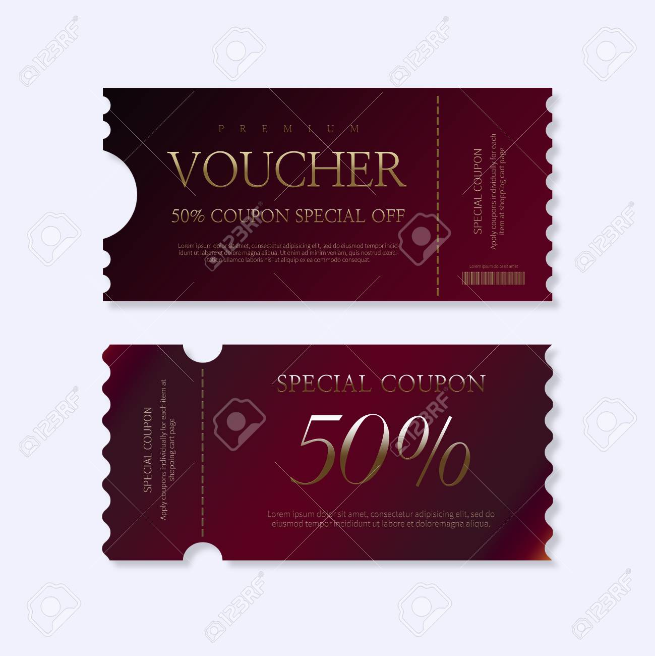 Discount Voucher Design Template Gift Voucher Certificate Coupon