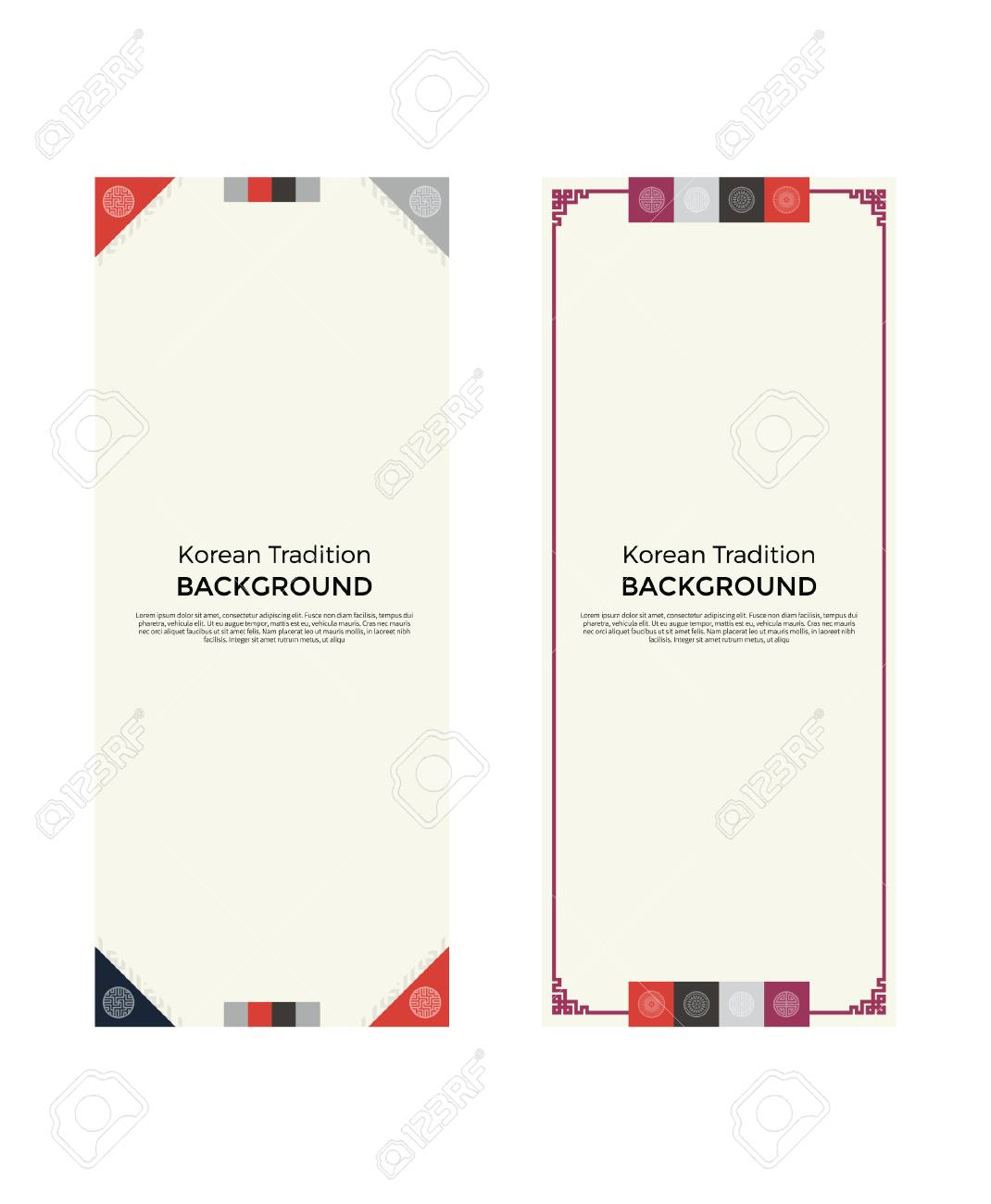 eae5ac3e048 Korean Traditional Pattern Background Banner Royalty Free Cliparts ...