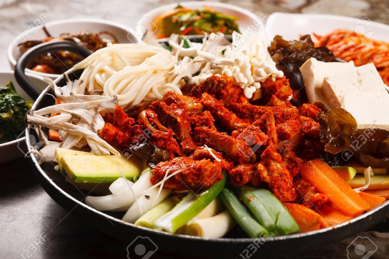 Beef Tripe Hot Pot Korean Cuisine Gopchang Jeongol Lizenzfreie
