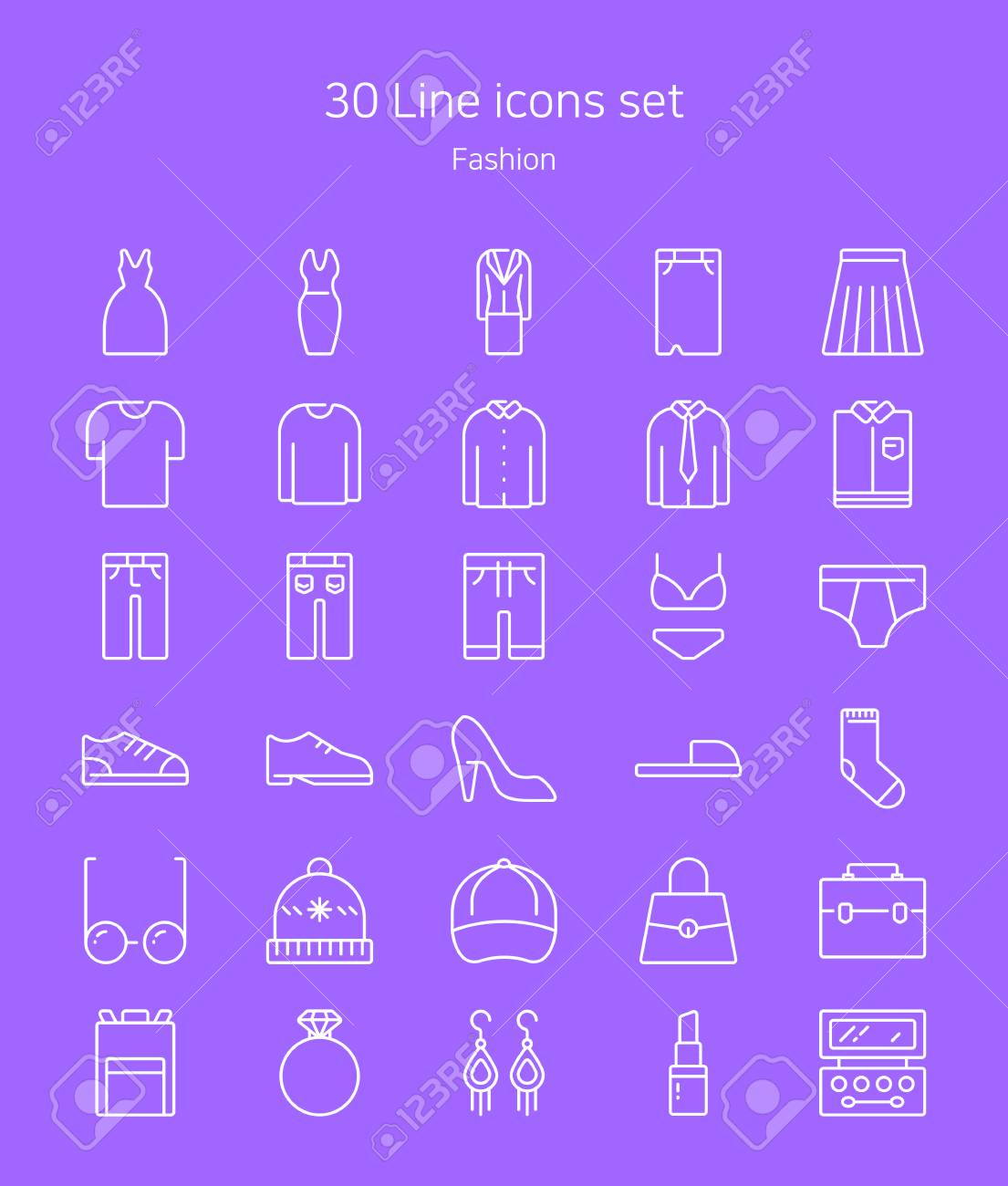 Set Of Flat Icons Line Style Design Elements For Mobile And Royalty Free Cliparts Vectors And Stock Illustration Image 110529098