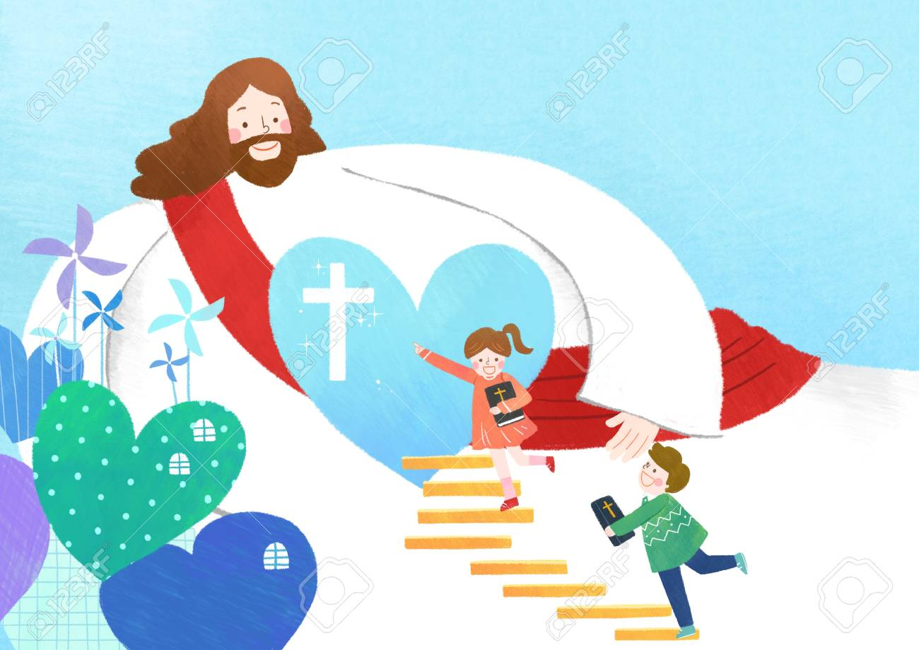 The Bible School Of Jesus With Children Stock Photo Picture And Royalty Free Image Image 113154678