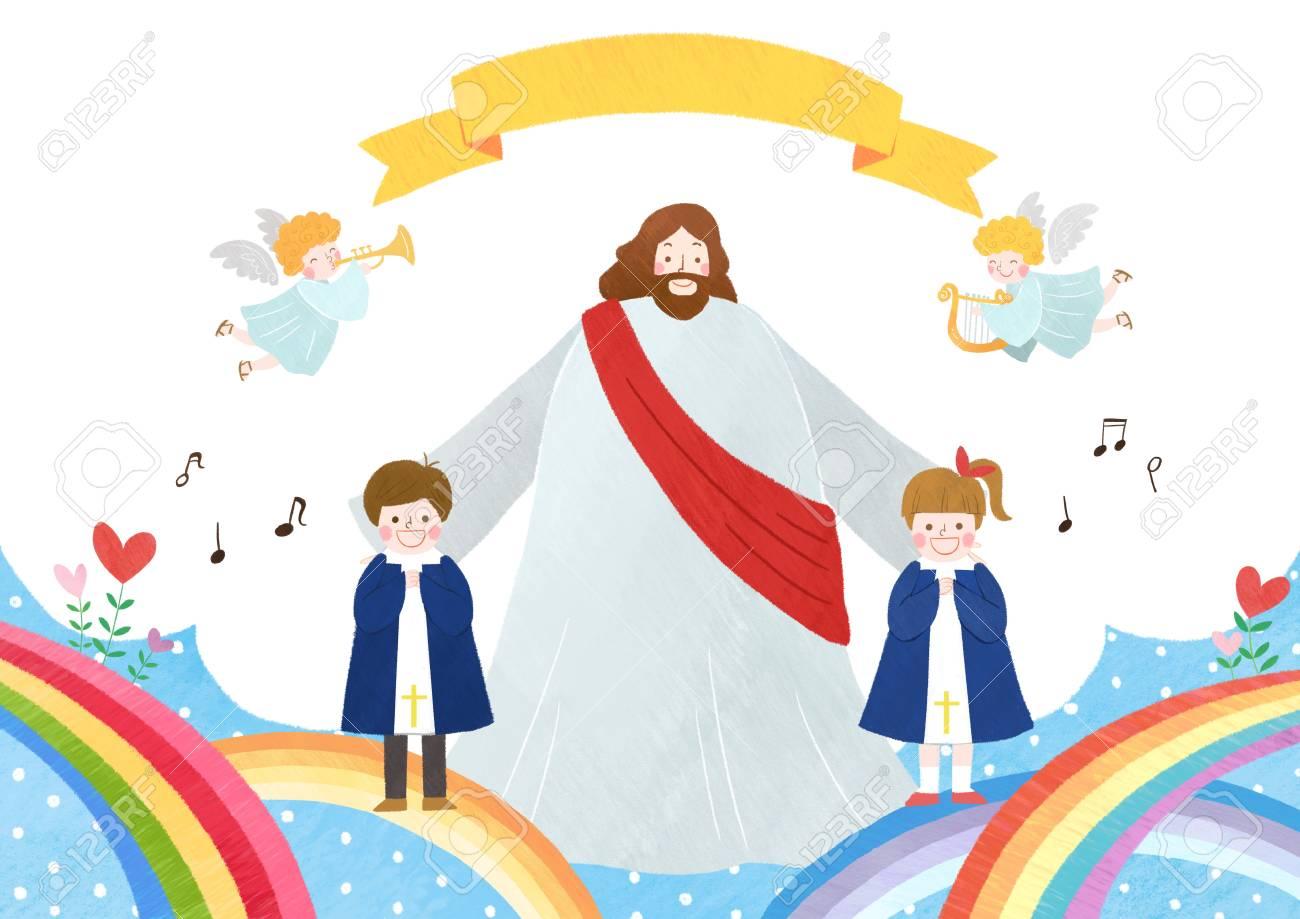 The bible school of Jesus with children