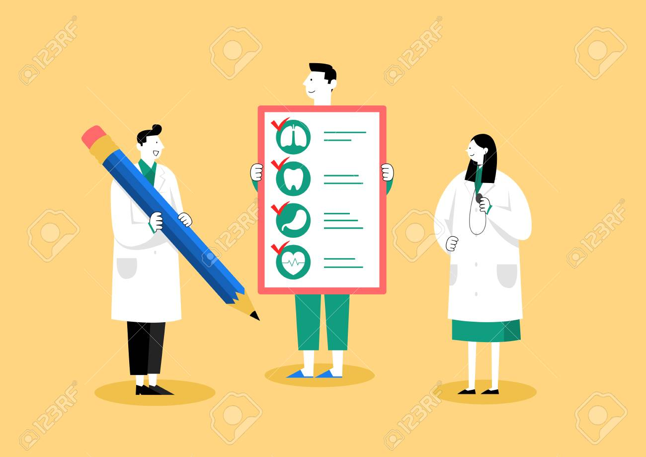 Medical check-up, health care concept vector illustration 005 - 122837669