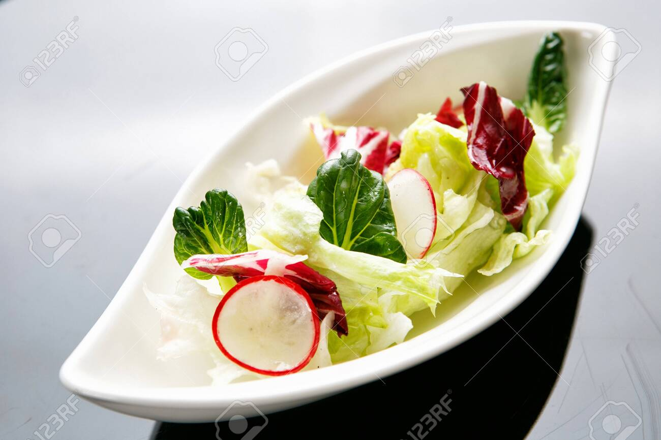 salad with green sprouts - 137135424