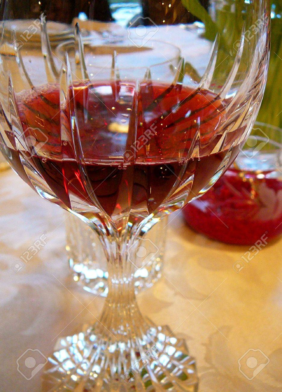 Traditional Passover Seder Setting: Goblet of Wine and Red Horseradish Stock Photo - 848987