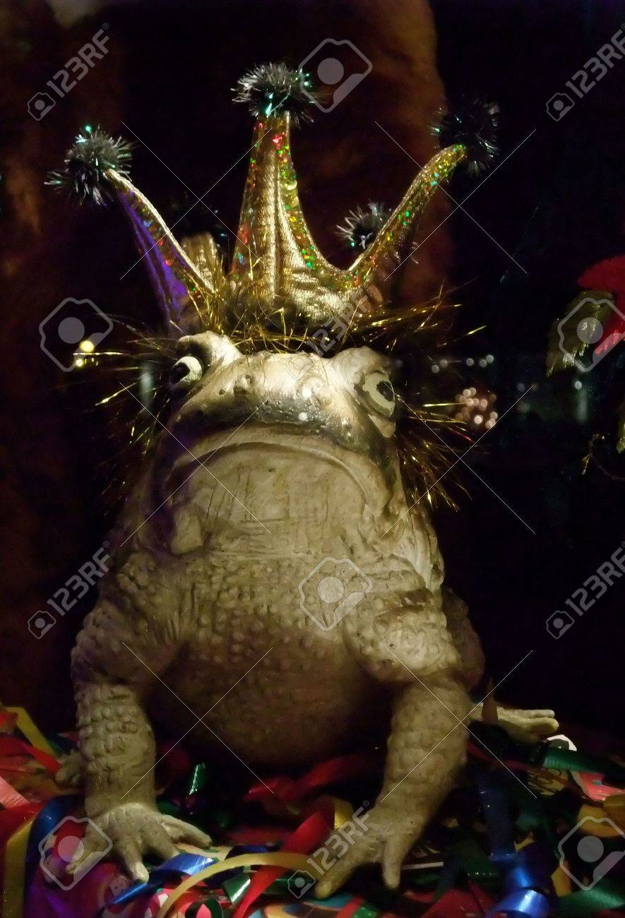 Fairy Tale Romance: Kiss the Frog, Perhaps He's the Prince Stock Photo - 3977691