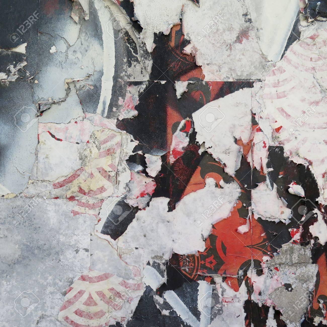 Mur De Vieillissement La Peinture écaillée Avec Colorées Abstraites Motif
